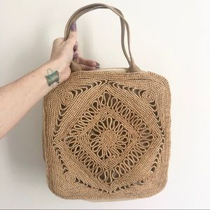 ✨Vintage wicker pattern square bag
